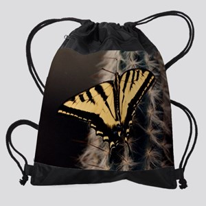 Monarch Cactus calendar Drawstring Bag