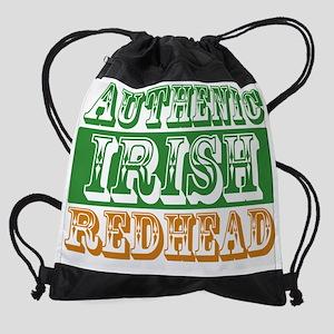 irish redhead Drawstring Bag