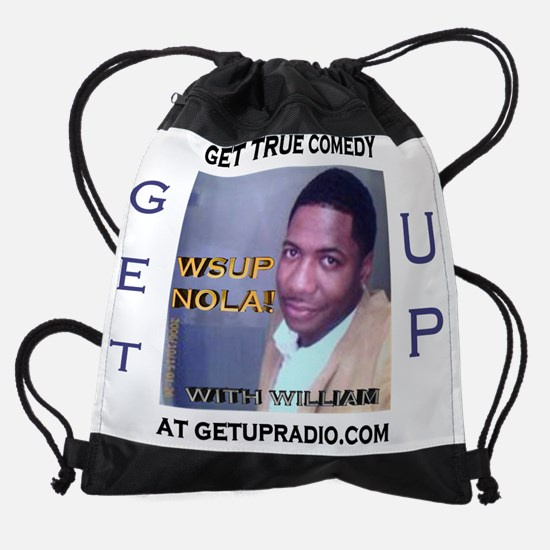 getup comedy shirt.jpg Drawstring Bag