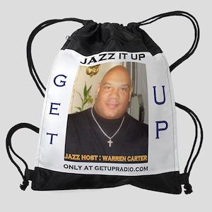 getupradio jazz shirt Drawstring Bag