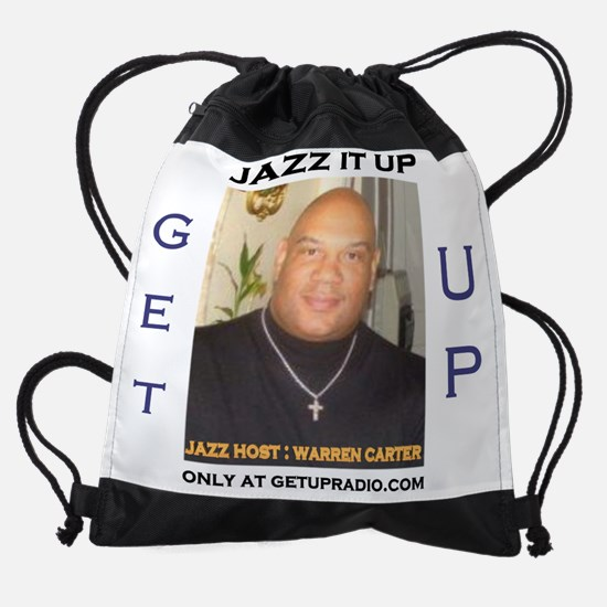 getupradio jazz shirt.jpg Drawstring Bag