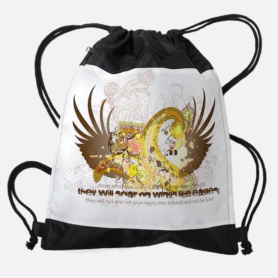 eagles wings.png Drawstring Bag