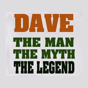 Dave The Legend Throw Blanket
