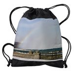 niagara winter cad rainbow calendar Drawstring Bag