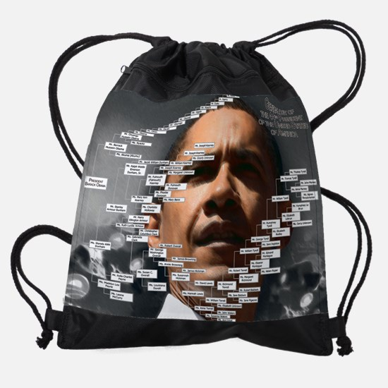 Obama Ancestors copy.png Drawstring Bag