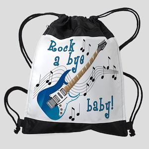RockAByeBabyBlue Drawstring Bag