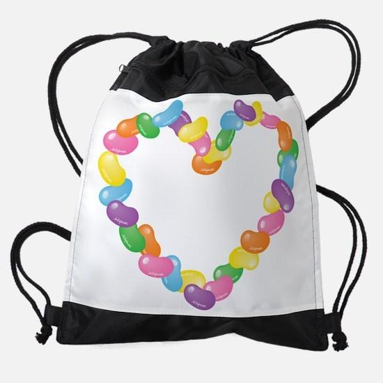JellyBeanHeart.png Drawstring Bag