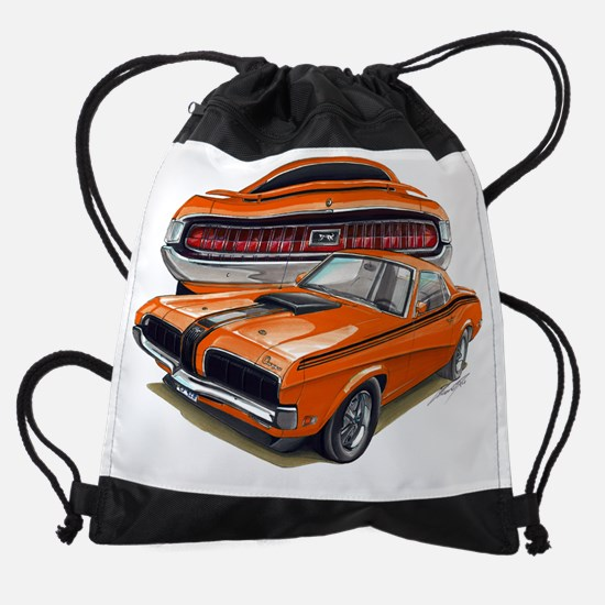 EC137CougarEliminator69 orange.psd Drawstring Bag