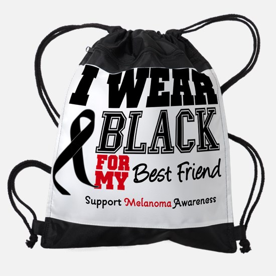 IWearBlackSporty-Best Friend.png Drawstring Bag