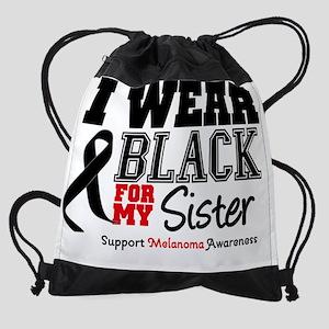 IWearBlackSporty-Sister Drawstring Bag