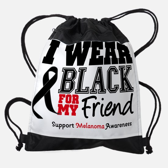IWearBlackSporty-Friend.png Drawstring Bag