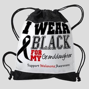 IWearBlackSporty-Granddaughter Drawstring Bag
