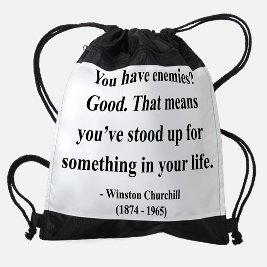 Winston Churchill 17 btext.png Drawstring Bag