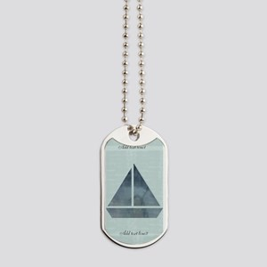 Cute Sailor Mint Boat Nautical Dog Tags