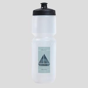 Cute Sailor Mint Boat Nautical Sports Bottle
