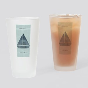Cute Sailor Mint Boat Nautical Drinking Glass