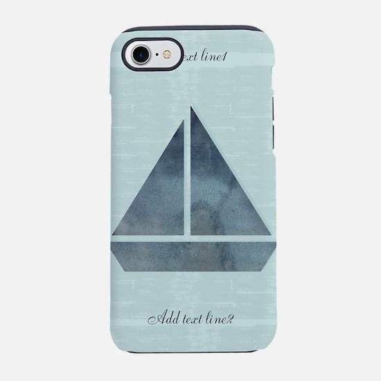 Cute Sailor Mint Boat Nautical iPhone 7 Tough Case