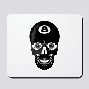 Eight Ball (8 Ball) Skull Mousepad