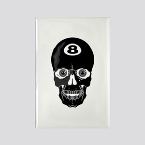 Eight Ball (8 Ball) Skull Rectangle Magnet