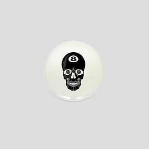 Eight Ball (8 Ball) Skull Mini Button