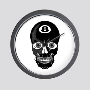 Eight Ball (8 Ball) Skull Wall Clock