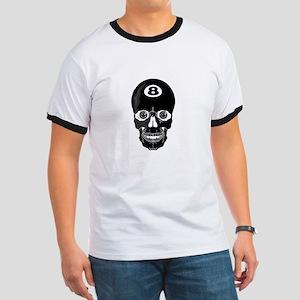 Eight Ball (8 Ball) Skull Ringer T