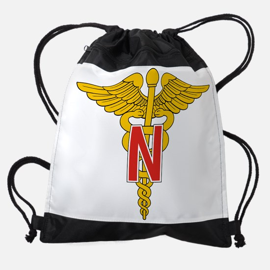 AMEDD Nurses Corps [Gold] Drawstring Bag