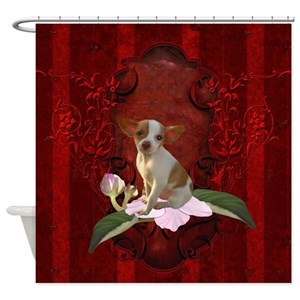 Funny Chihuahua Shower Curtains