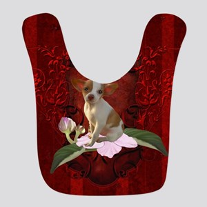 Sweet little chihuahua Polyester Baby Bib