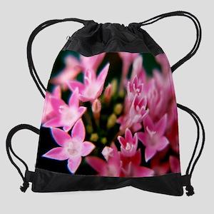 2-mouse pad pink flowers Drawstring Bag