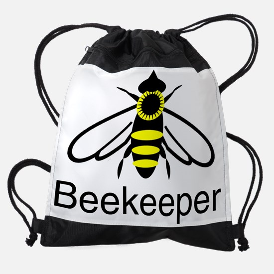 beekeeper bee.png Drawstring Bag