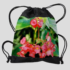 calendar begonia Drawstring Bag