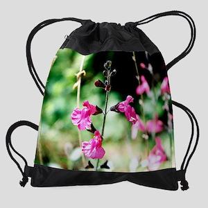 mouse pad wildflower Drawstring Bag
