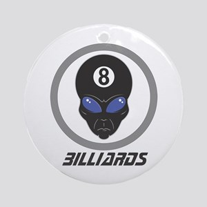 Billiards (Pool) Alien Head Design Ornament (Round