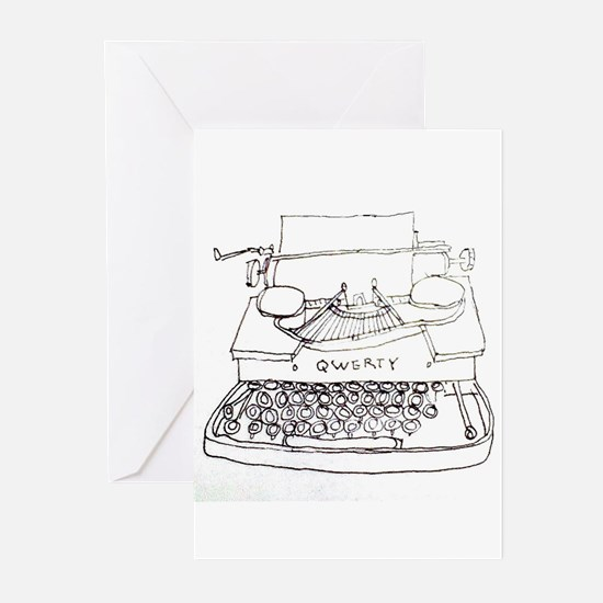 Typewriter Greeting Cards (Pk of 10)