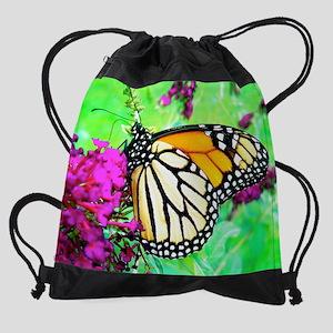 Monarch Butterfly, Photograph Art P Drawstring Bag