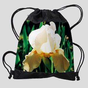 calendar pale iris 4 Drawstring Bag