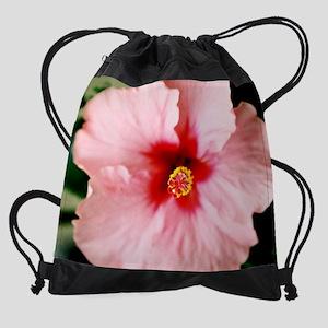 calendar pink hibiscus 2 Drawstring Bag