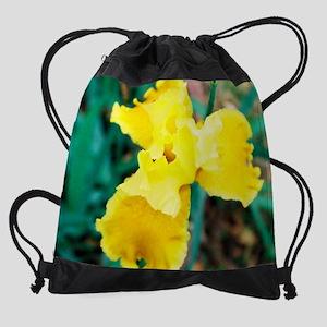 calendar yellow brown iris. Drawstring Bag