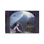 Celtic Maiden Awaits Rectangle Magnet (10 pack)