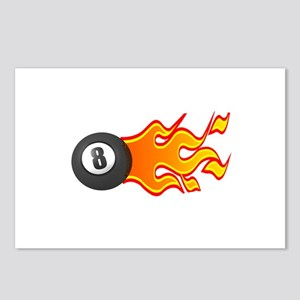Eight Ball on Fire Postcards (Package of 8)