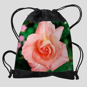 calendar pink rosebud Drawstring Bag