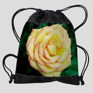 2-calendar yellow rose Drawstring Bag