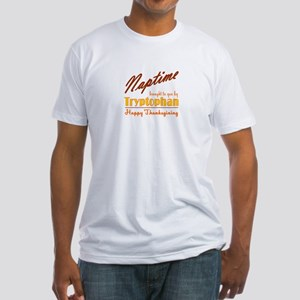 Thanksgiving Nap (Tryptophan) Fitted T-Shirt