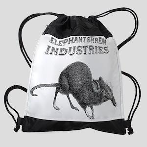 2-elephant shrew industries.png Drawstring Bag