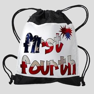 first_fourth Drawstring Bag