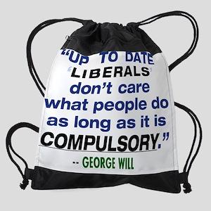 GeorgeWillQuote-16x20 Drawstring Bag