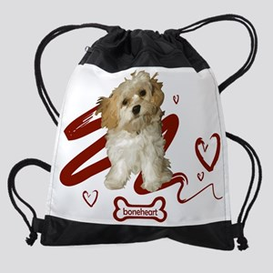 Cavachon hearts Drawstring Bag