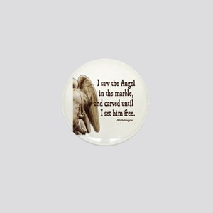 Michelangelo Angel Mini Button