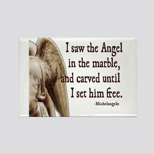 Michelangelo Angel Rectangle Magnet